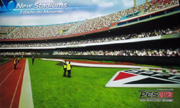 Arquibancada do Estádio do Morumbi no Vídeo Game PES 2013