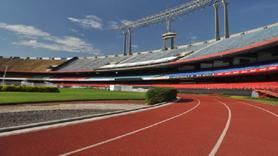 Estádio Morumbi - Vista da Pista de Atletismo dentro do Estádio