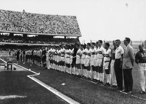 Jogo inaugural no estádio do Morumbi