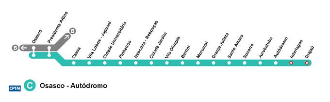 Mapa da Estação Morumbi - Linha 9 Esmeralda